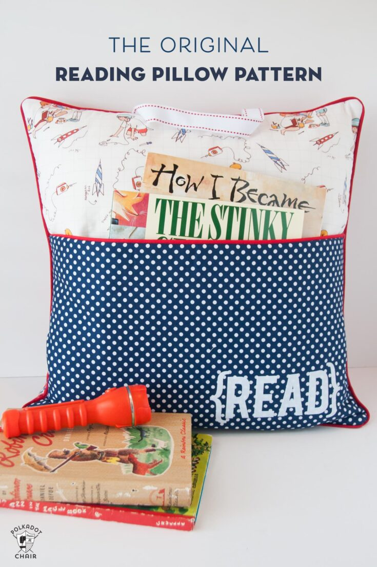 Reading Pocket Book Pillow