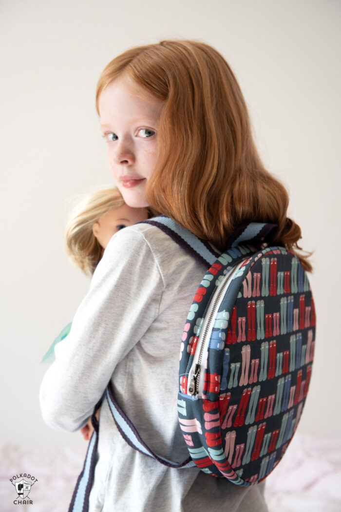 kids round backpack