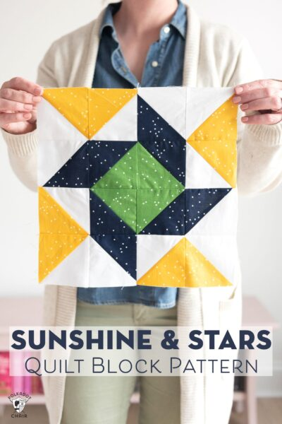 Sunshine & Stars Quilt Block – Just For Fun Quilt Along
