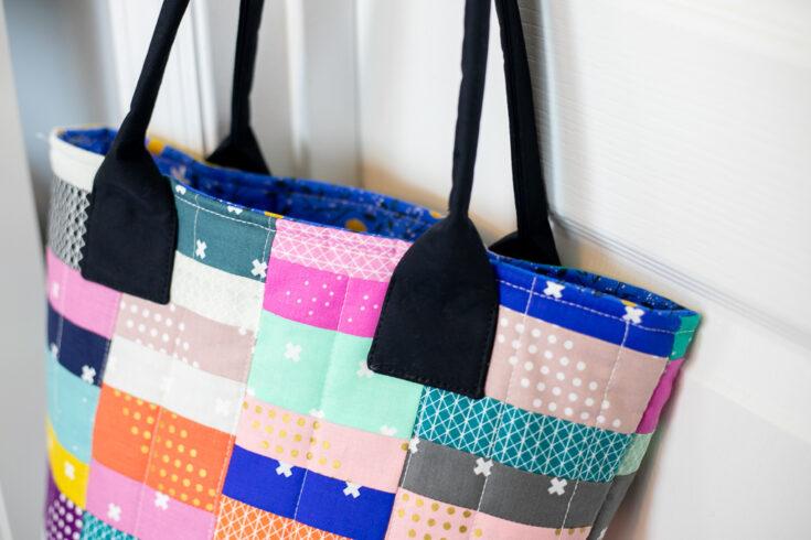 The Scrapyard Tote - free sewing pattern