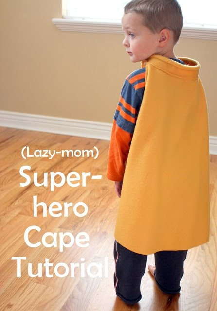 Super easy Superhero Cape Tutorial | Diary of a Quilter - a quilt blog