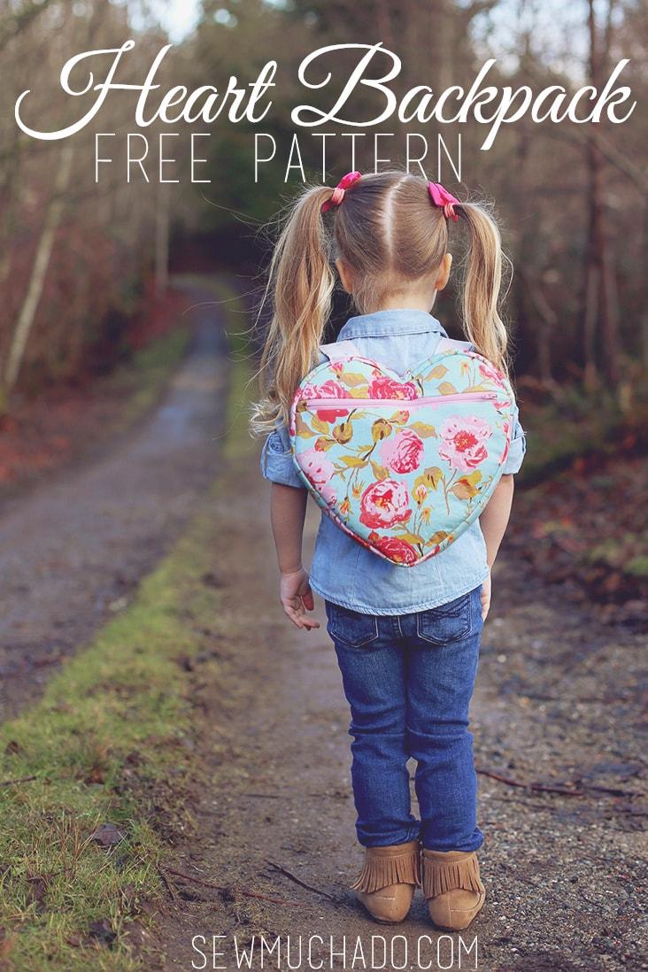 Heart Backpack Free Pattern