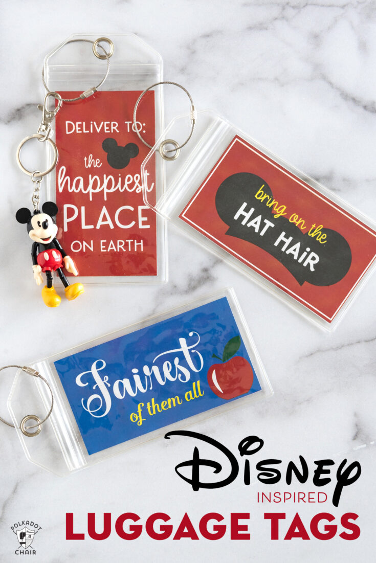Free Printable Luggage Tags perfect for your Disney Vacation