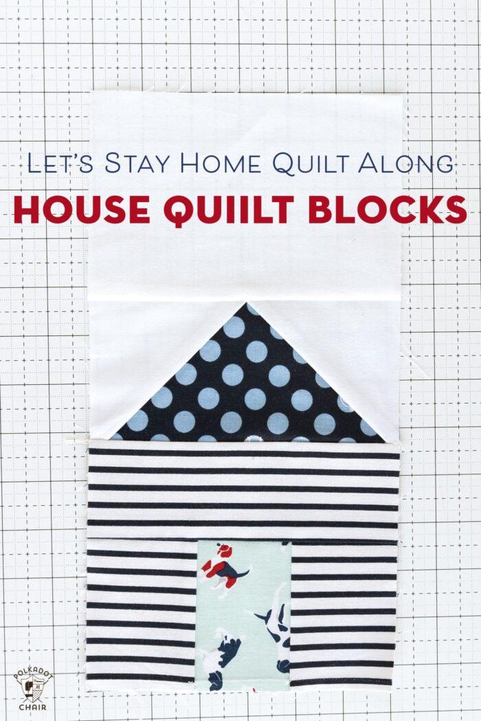 Paper Pieced House Quilt Blocks Quilt Along Week 2 Polka Dot Chair