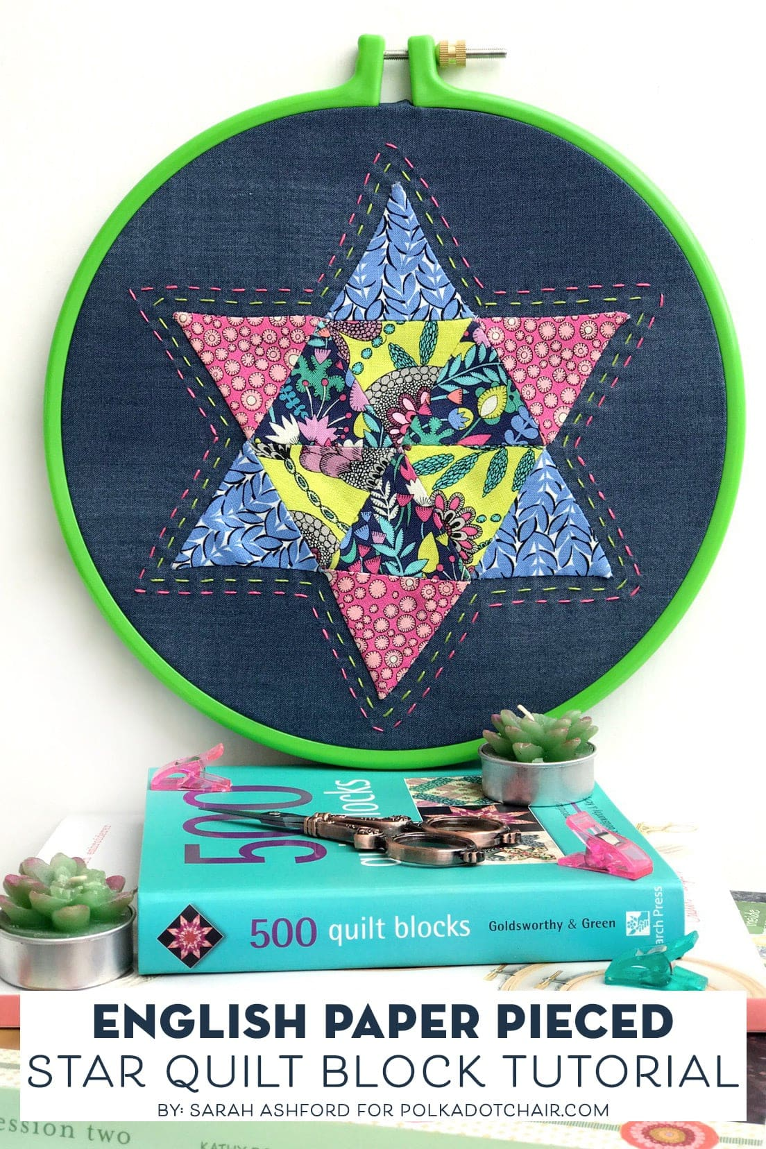 Learn The Basics Of Engilsh Paper Piecing Polka Dot Chair