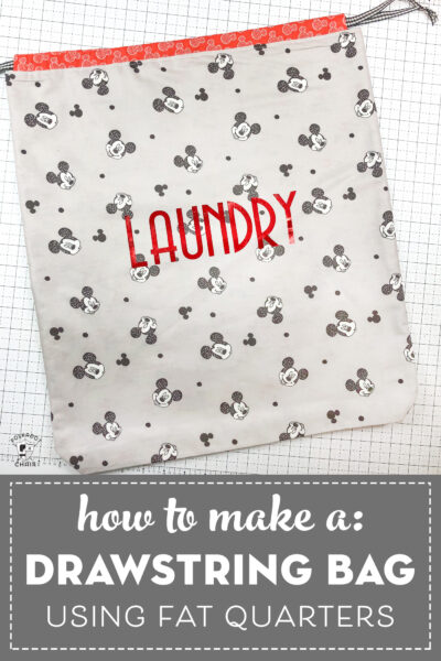 How to Make a Drawstring Laundry Bag; a Fat Quarter Project