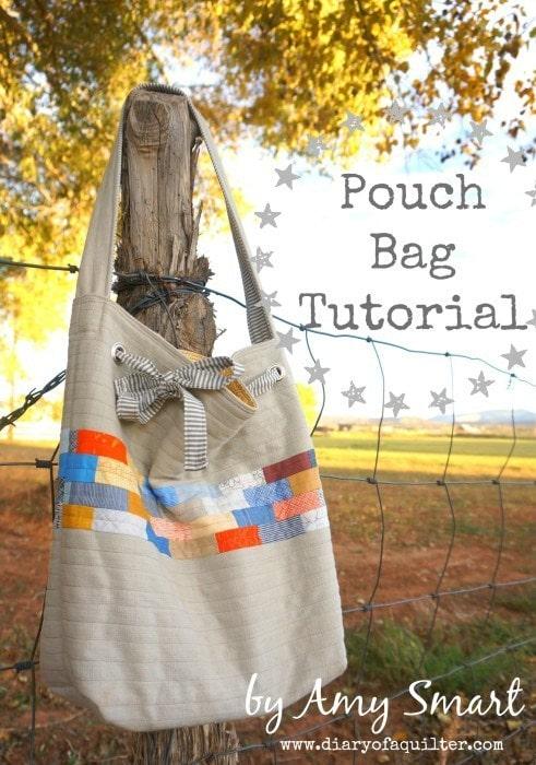 DIY Drawstring Shoulder Bag Tutorial