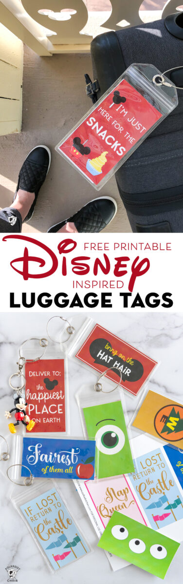 Printable Luggage Tags Perfect For Your Disney Vacation