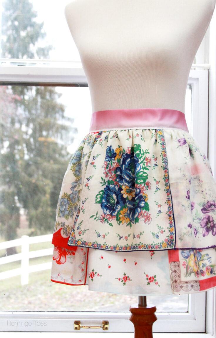 Colorful Vintage Handkerchief Apron -