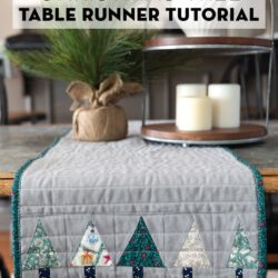 Liberty of London Christmas Table Runner on table