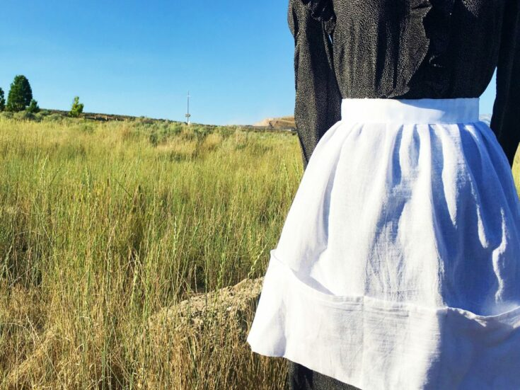 How to make a Pioneer Inspired Apron