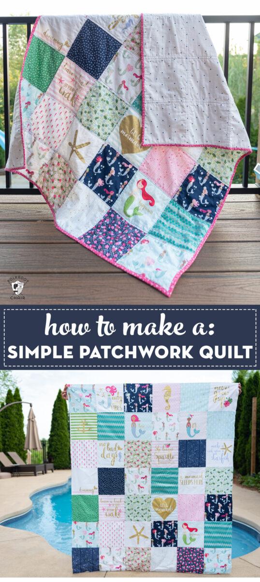 Simple patchwork quilt tutorial