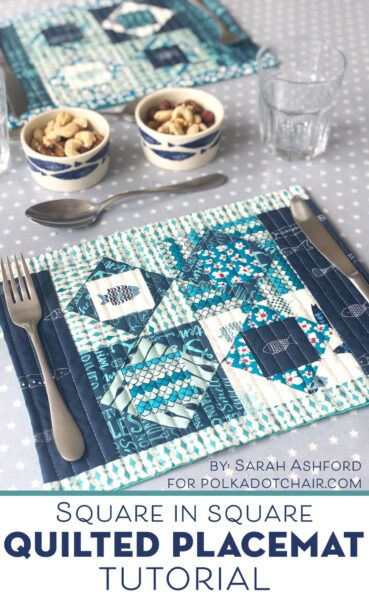 Square in Square Quilted Placemat Pattern