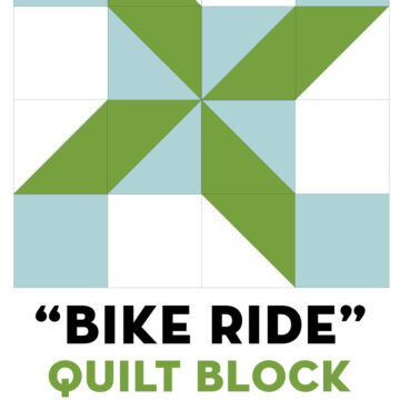 Bike Ride Quilt Block illustration