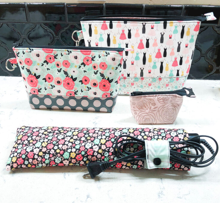 Travel Curling Iron Sleeve Sewing Pattern
