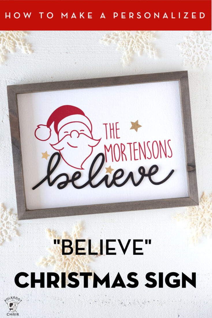 DIY Personalized Wood Christmas Sign; A Cricut Project