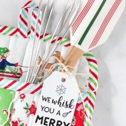 Free printable tags on christmas potholder