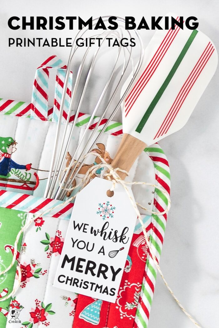 Free printable tags on christmas potholder