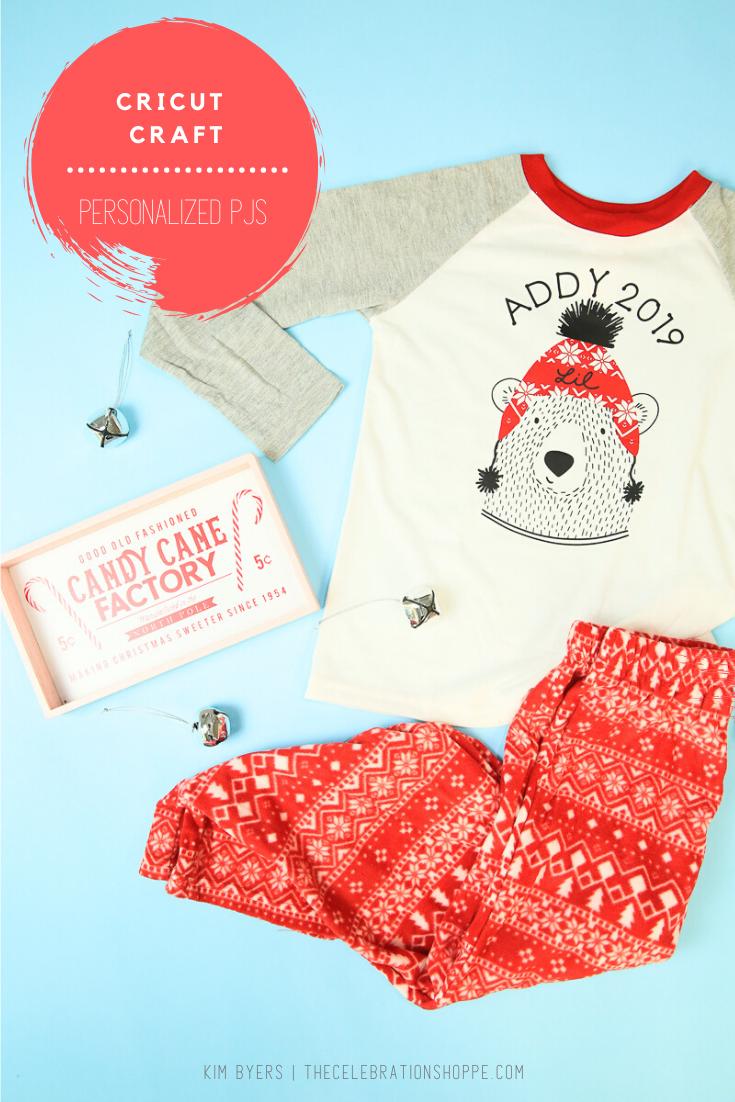 Personalized Christmas Pajamas with Cricut Explore Air 2 • The Celebration Shoppe