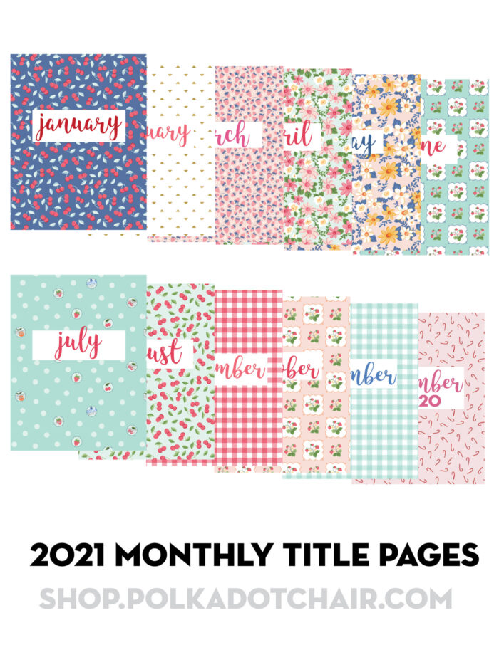 graphic of pages included in the project planner