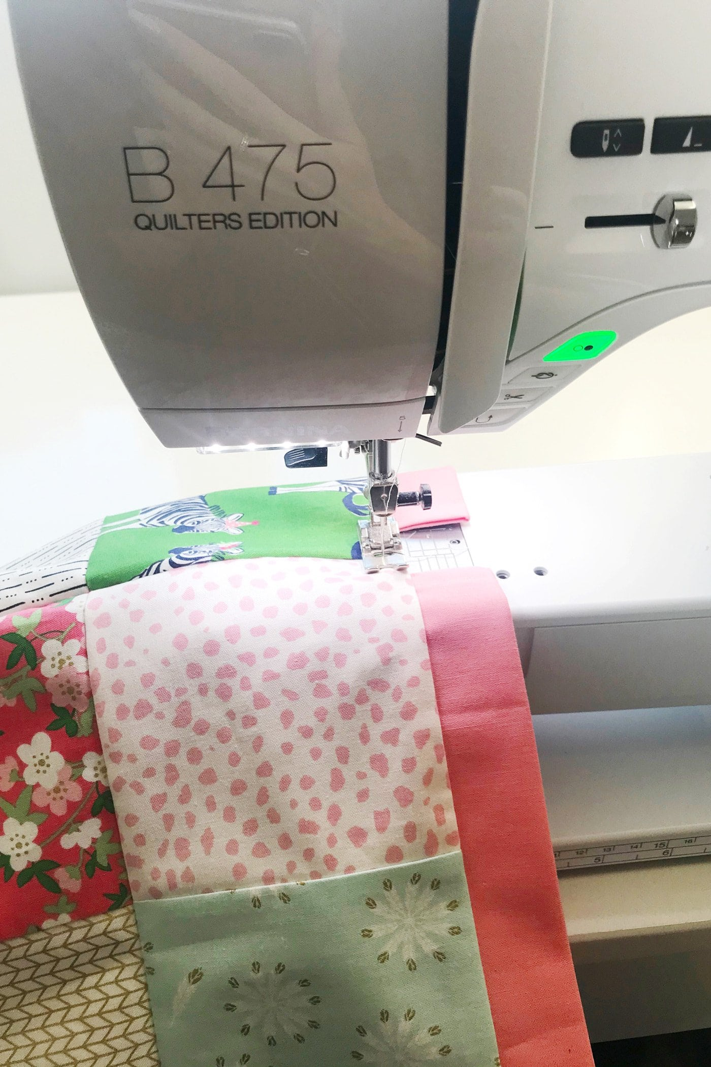 stitching down casing on bag