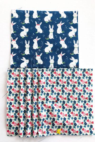 pencil pockets sewn half way