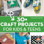 collage image of craft projects in post.