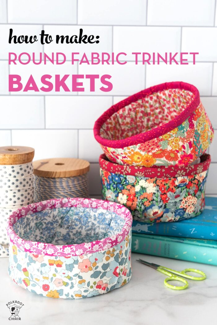 How To Make Round Fabric Baskets Polka Dot Chair