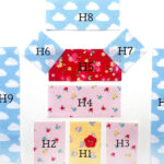 needlecase quilt block pieces on white background
