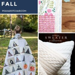 collage image of cozy fall DIY's