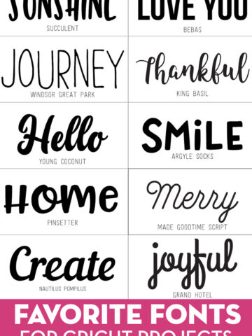 Collage image showing 10 different fonts on white background