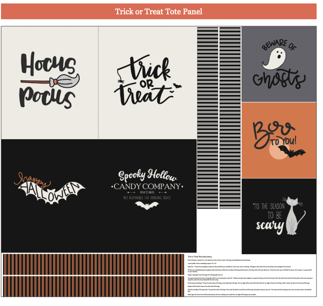 screen shot of the spooky hollow fabric collection storyboard