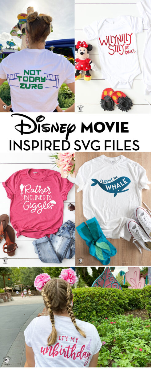 collage image of several disney tshirts