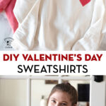 graphic for pinterest, text and sweatshirt photos