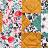 close up of quilting on fabric