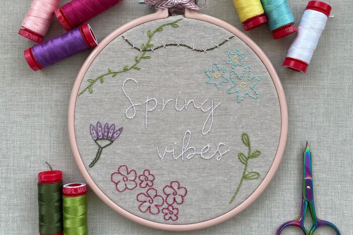 completed embroidery project