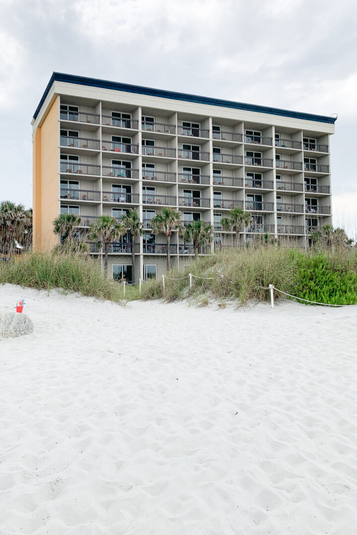 Exterior of hotel on beach