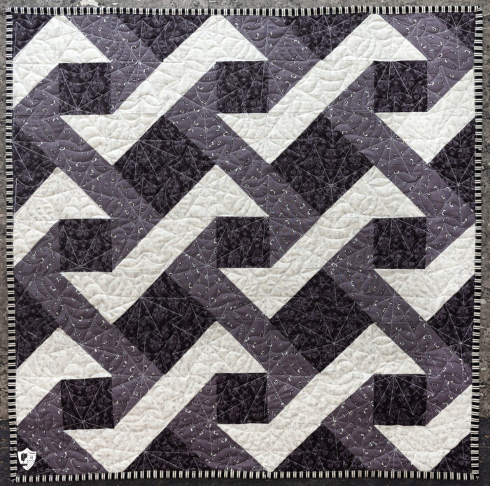 black gray and white table topper