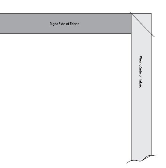 black and white diagram of quilt binding