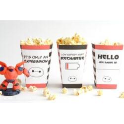 Big Hero 6 Popcorn Boxes