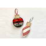 Scrappy Christmas Ornament Template