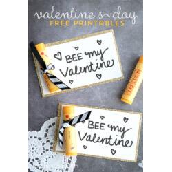"""""""BEE"""" My Valentine Printable"""
