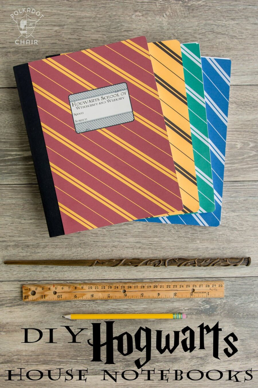 Harry Potter Inspired Notebook Covers