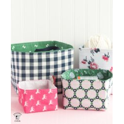 Fabric Basket Pattern Piece - SVG File