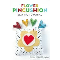 Flower Pincushion Applique Pattern