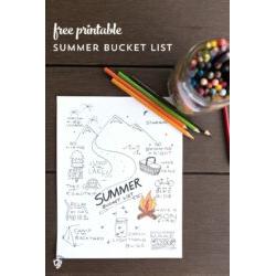 Summer List Printable