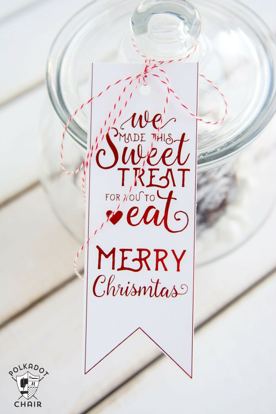 Sweet Treat Tags (B&W and Red)