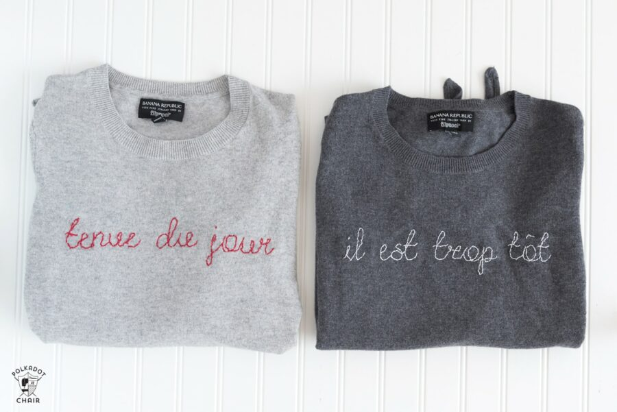 French Sayings for Embroidery