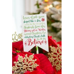 Poinsettia Poem Tags