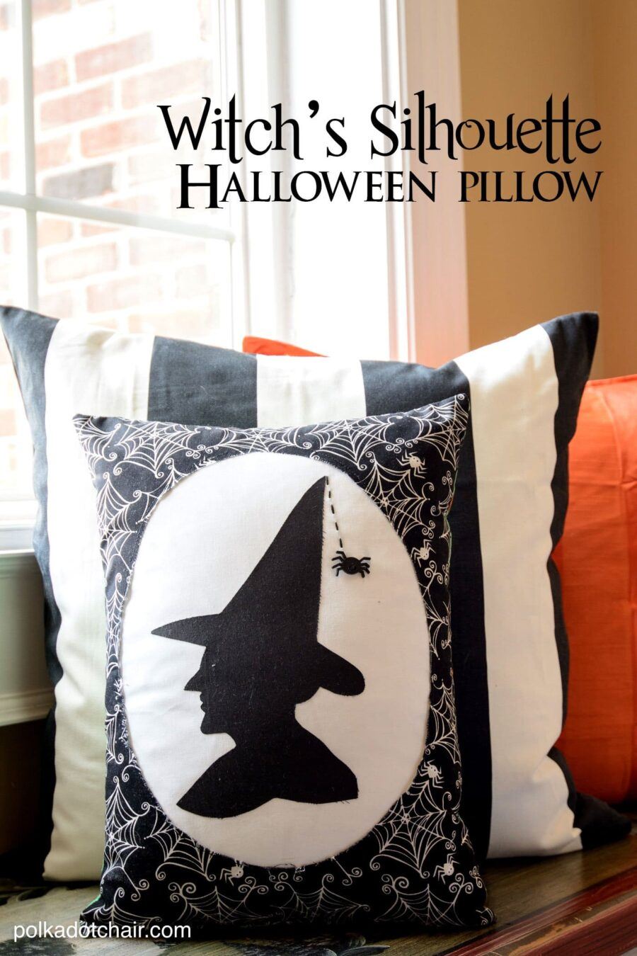 Witch Silhouette Pillow
